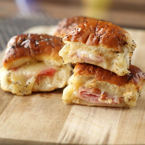 Sweet Ham and Swiss Sliders