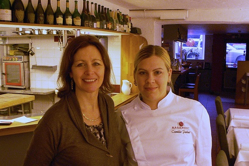 Heather with Camilla Parkner, Head Chef at Basement in Gothenburg Photo: Heatheronhertravels.com