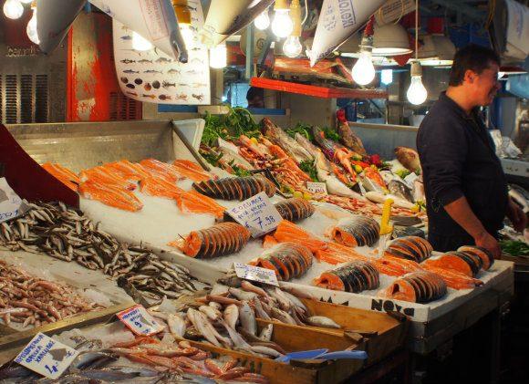 Central market or Varvakios agora on Athinas Street in Athens Photo: Heatheronhertravels.com