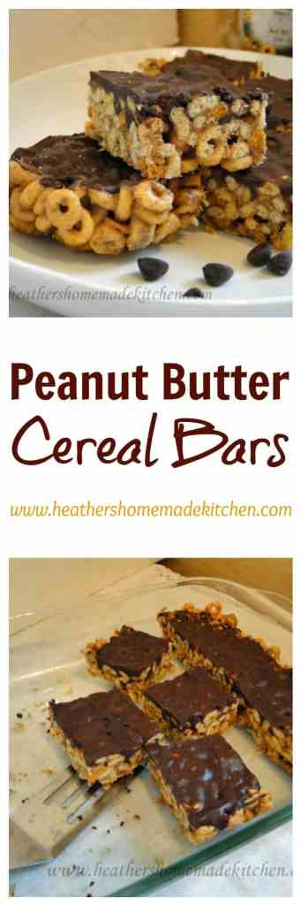 Peanut Butter Cereal Bars
