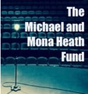 "Logo: Picture of a ghost light on a stage and the words ""The Michael and Mona Heath Fund"""