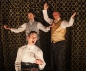 Cast of TUTA's Music Hall: Jeffrey Binder, Michael Doonan, and Darren Hill