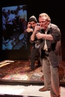 Ryan Hallahan and Don Bender in Stage Left Theatre's The Body of an American