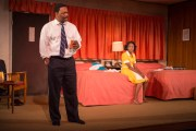 David Alan Anderson and Lisa Beasley in The Mountaintop at Court Theatre