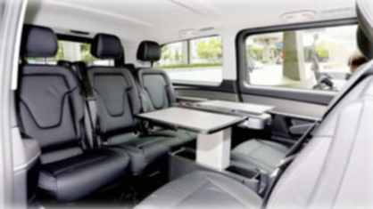 Mercedes V-Class chauffeur driven peoples carrier minibus hire