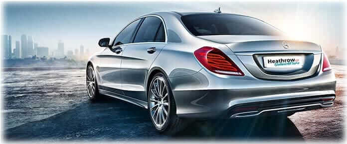 back of mercedes benz s class chauffuer driven