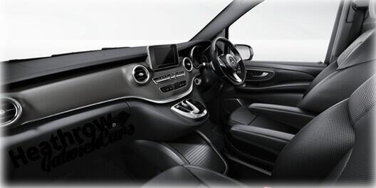 black mercedes benz s class interior