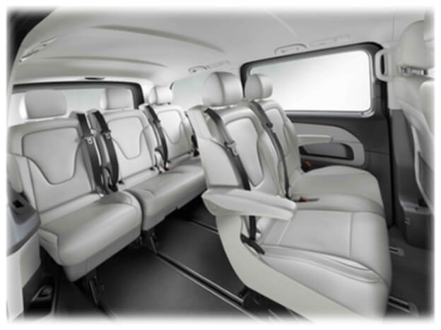chauffeur services airport transfers mercedes v class 6 seater