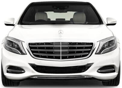 white s class mercedes hire chauffeur driven cars for weddings
