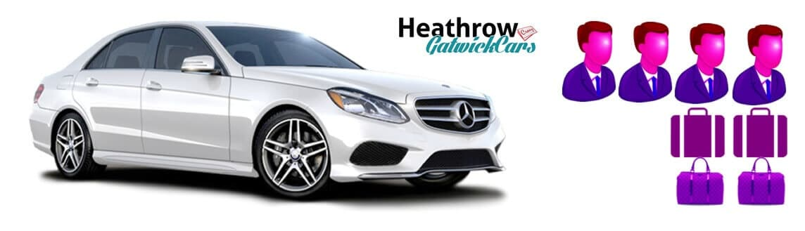 e class Mercedes benz taxi from heathrow to gatwick