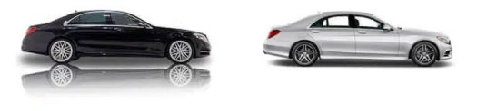 vehicle rental fleet Mercedes S Class and BMW 7 Series