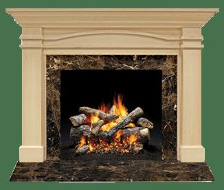 Portico Flush Wood Mantel