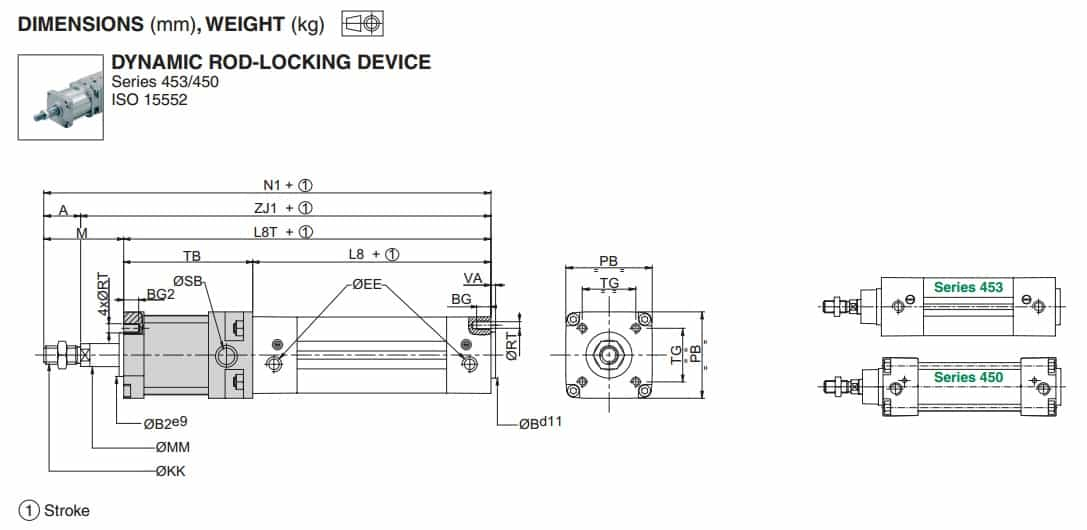 ASCO 492 (450-453) Dynamic Rod Locking Device For ISO