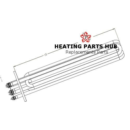 Steam Boiler Element 22.5kw 480v 4-1/2