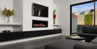 Glass Gas Fireplace, Gas Firebox & Gas Log Fires | Heatmaster