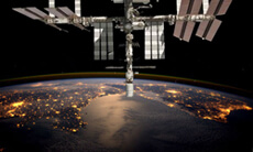 Solar panels in space.