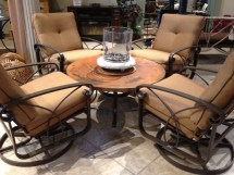 Patio Furniture Swivel Chairs Chat Set In Okemos Mi