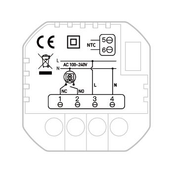 European Standard Smart Water Heating Thermostat TH213W