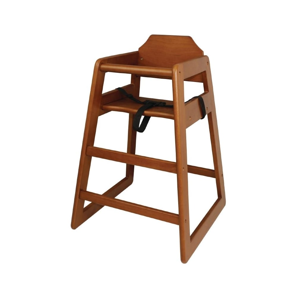 wooden high chair uk covers for protection bolero highchair dark wood finish furniture outdoors