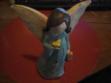 shabby chic angel blue Faith