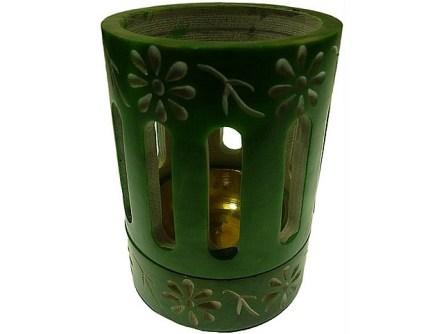 coloured incense or resin burner green