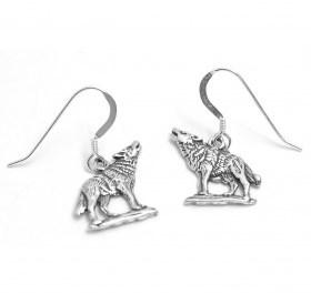 wolf earrings Navajo