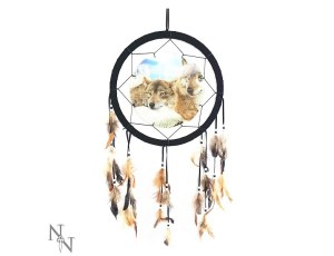 3D Dreamcatcher Wolves at Peace 33 cms