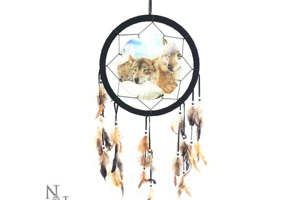 3D Dreamcatcher Wolves at Peace 33 cms