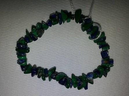 Malachite & Lapis Lazuli Chip Bracelet March 2017