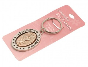 Protected by angels key-ring
