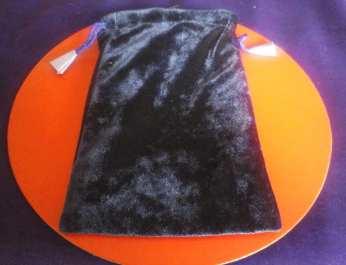 Plain purple velvet bag