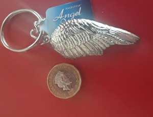 Guardian Angel wing key-ring 2 top shot