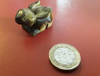 Hand Carved Gold Tiger's Eye Rabbit 2