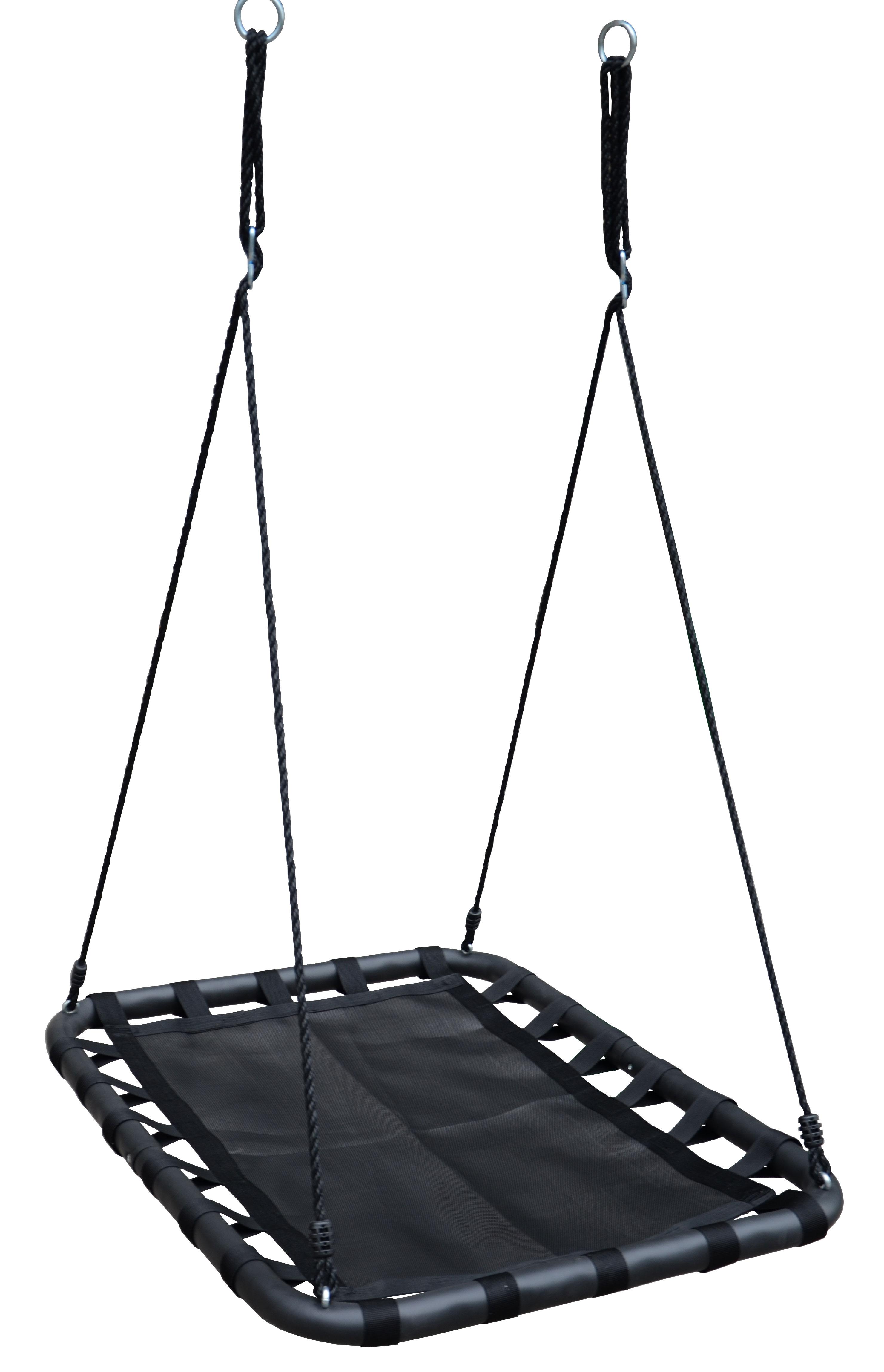 100cm Black Rectangle Mat Nest Swing  Heavenly Hammocks