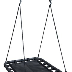 Swing Chair Range Club Recliners 100cm Black Rectangle Web Mat Nest 43 Free Tree Straps