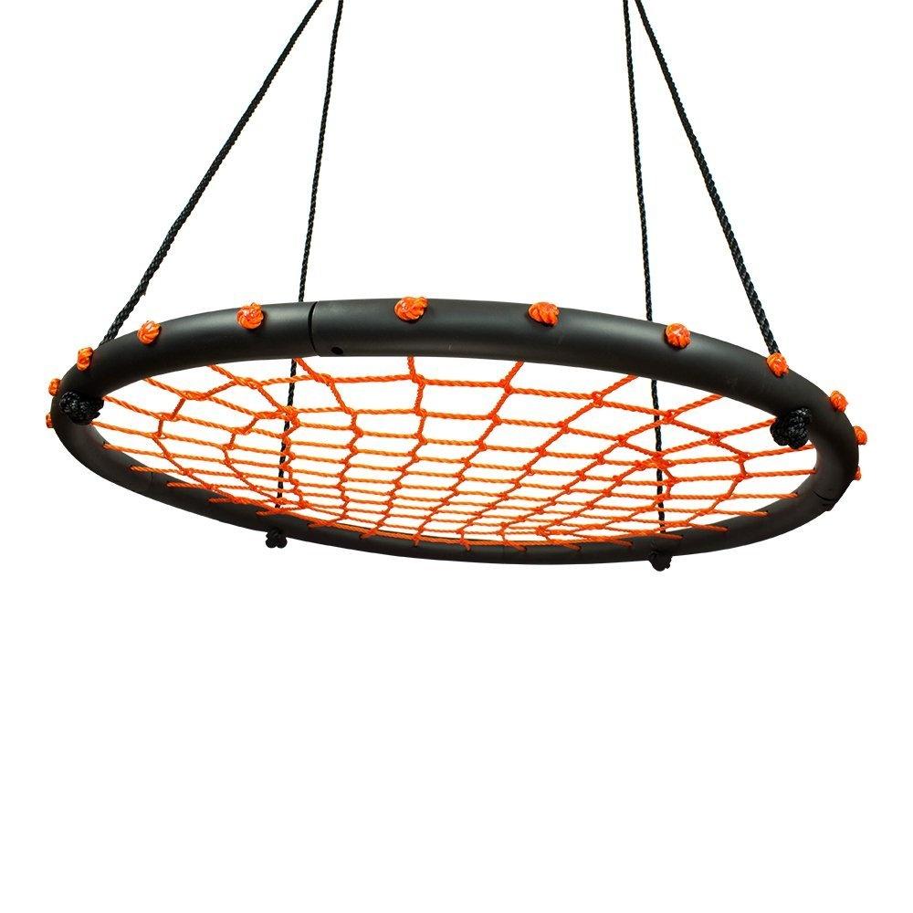 100cm Orange Round Spider Web Nest Swing