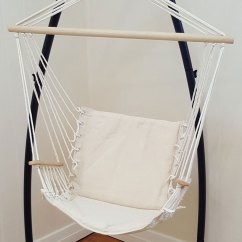 Hanging Chair Ebay Swing To Buy Beige Padded Hammock With Armrests 43 Stand