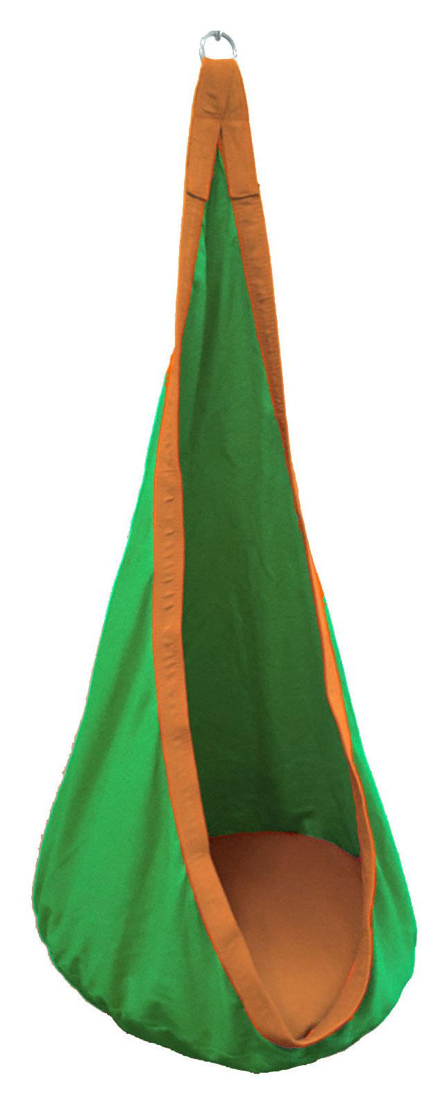 Green And Orange Waterproof Outdoor Sensory Swing Pod
