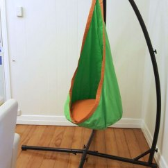 Hanging Chair From Ceiling Plastic Stacking Chairs Canada Green And Orange Waterproof Sensory Swing With Stand - Heavenly Hammocks
