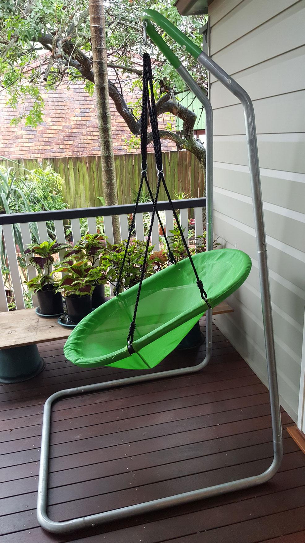 Green Oval Seat Swing  Heavenly Hammocks