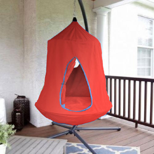 Red Hangout Hanging Nest With Stand  Heavenly Hammocks