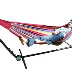 Hammock Chair Stand Adjustable Ergonomic Orthopedic Free Standing Purple And Red Multi Coloured