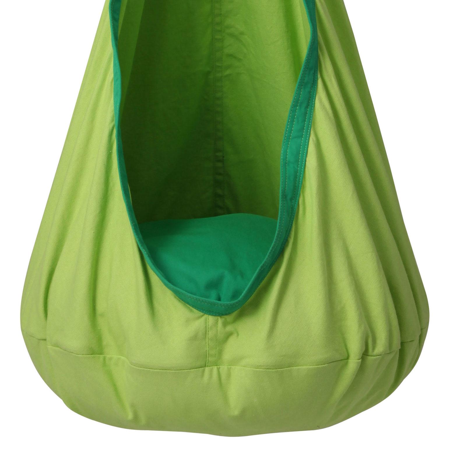 Green Kids Sensory Swing Pod Chair  Heavenly Hammocks