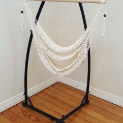Hammock Chair Stands Ikea Kivik White Cotton Rope With Tassels Stand