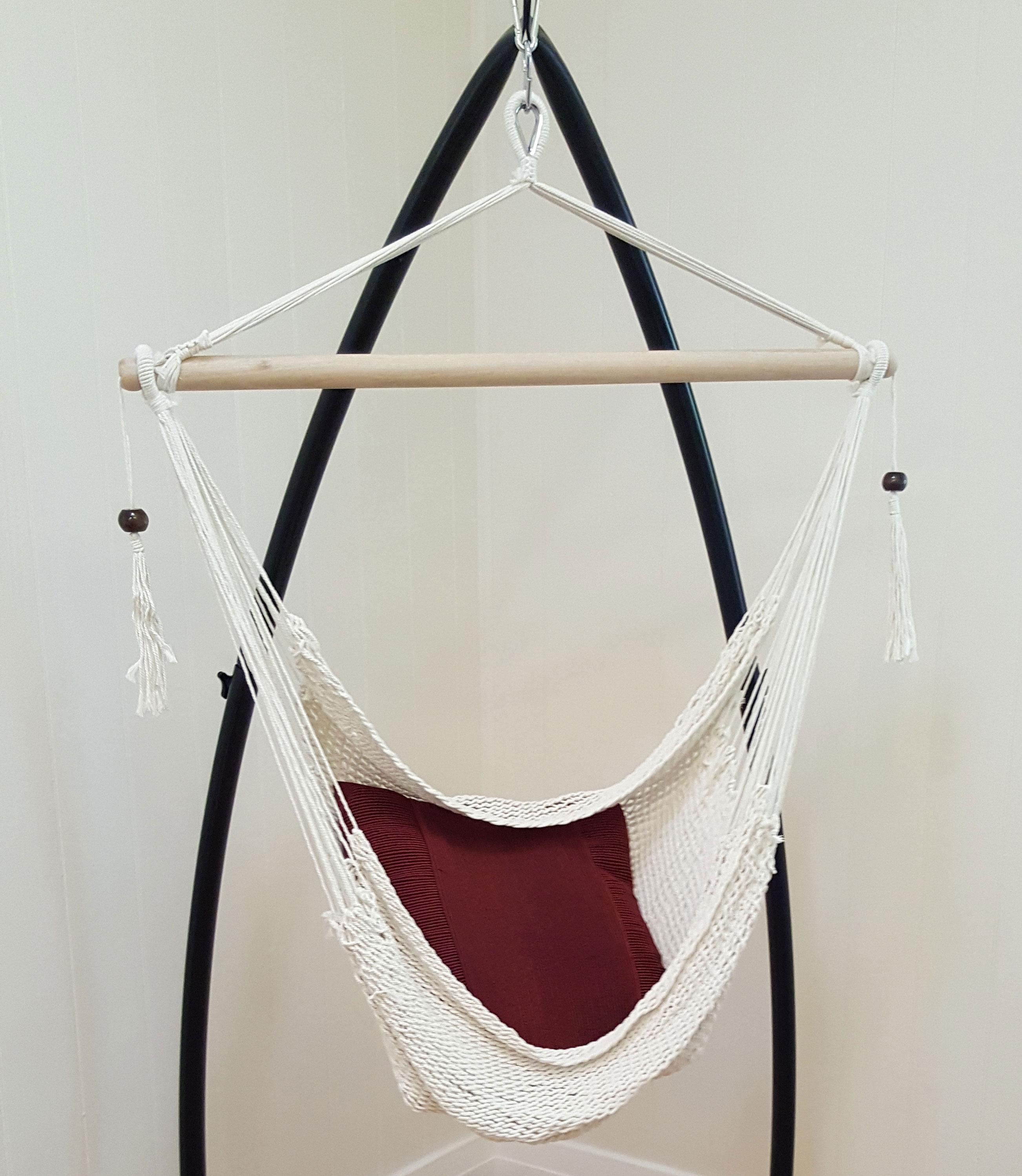 hanging chair bolt skyline furniture slipper rope hammock with tassels 43 free kit