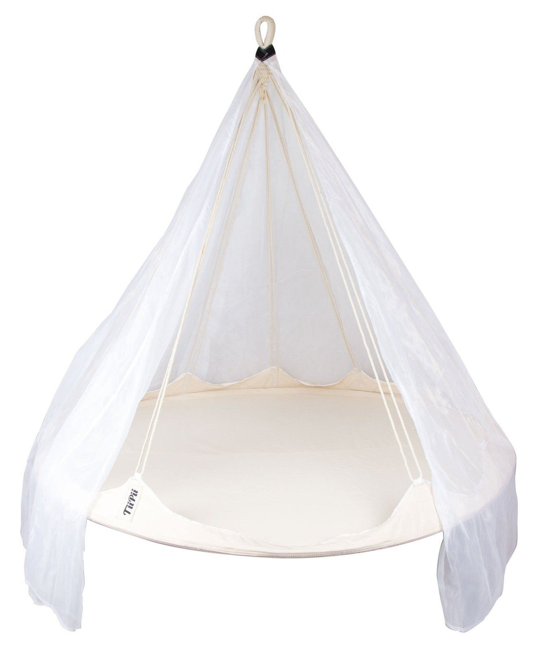 hanging chair notonthehighstreet ergonomic cape town white tiipii floating bed with mosquito net heavenly