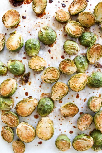 Honey Roasted Brussel Sprouts with Pomegranate Seeds - plant-based, gluten free, refined sugar free - heavenlynnhealthy.com