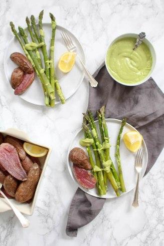 Asparagus with Avocado Hollandaise - vegan, vegetarian, plant based, gluten free - heavenlynnhealthy.com