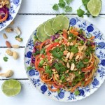 Healthy Pad Thai with Peanuts and Coriander