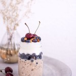 Blueberry Bircher Muesli Parfait with Coconut Yoghurt